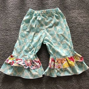 Lolly Dolly Doodle Ruffle Capris 3T